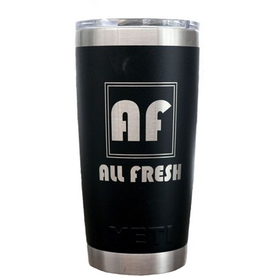 Authentic YETI 20 oz. Tumbler Laser Engraved